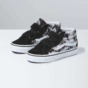 Zapatillas-Uy-Sk8-Mid-Reissue-V-Youth--5-a-12-años---Tie-Dye--Skull-Black